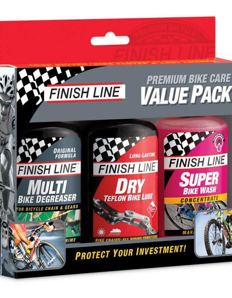 Finish Line Finish Line Bike Care Value Pack, Includes DRY Lube, EcoTech Degreaser and Super Bike Wash