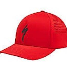 Specialized DELTA FLEXFIT HAT S-LOGO RED/BLK OSFA One Size