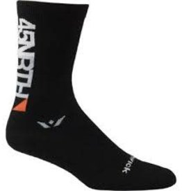 "45NRTH 45N by Swiftwick 7"" Wool Sock: Black MD"