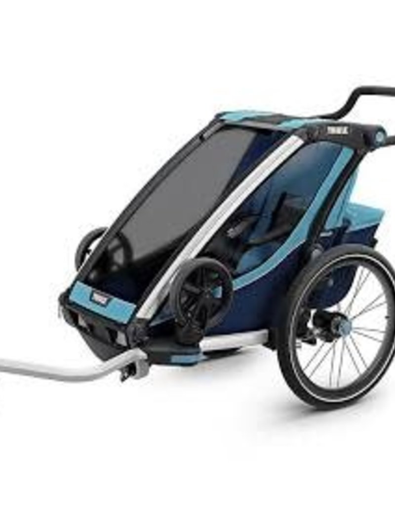Thule Thule Chariot Cross 1 Trailer and Stroller: Blue, 1 Child
