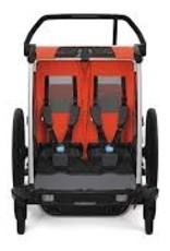 Thule Thule Chariot Cross 2 Trailer and Stroller: Roarange, 2 Child