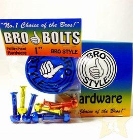 """Bro Bolts Skateboard Hardware 1"""" Phillips 'Jaws'"""