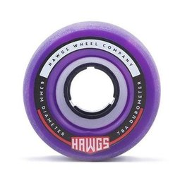 Fattie Hawgs Pink/Purple Swirl 78a Longboard Wheels 4pk.