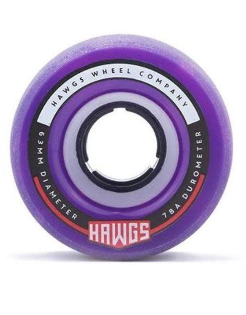 Fattie Hawgs Pink/Purple Swirl 78a Longboard Wheels 4pk.