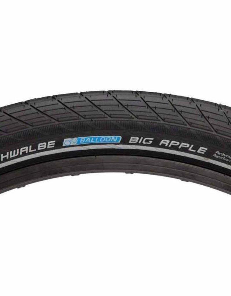 SCHWALBE Schwalbe Big Apple Tire 26 x 2.35, Wire Bead, RaceGuard, Black/Reflect