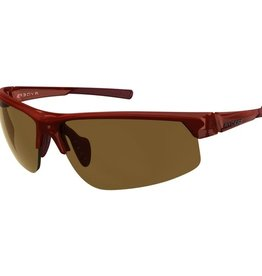 Ryders SABER POLY DK RED MATTE XTAL / BROWN LENS