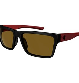 Ryders NELSON POLY BLACK-RED / BROWN LENS