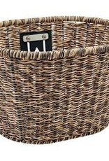 ELECTRA ELECTRA Plastic Woven Basket  Light Brown/Black