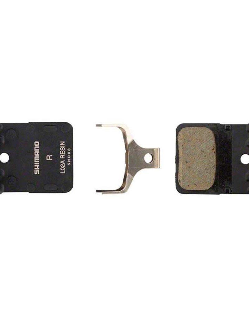 Shimano Shiman, L02A, Hydraulic rad disc brake pad, Resin, With fins