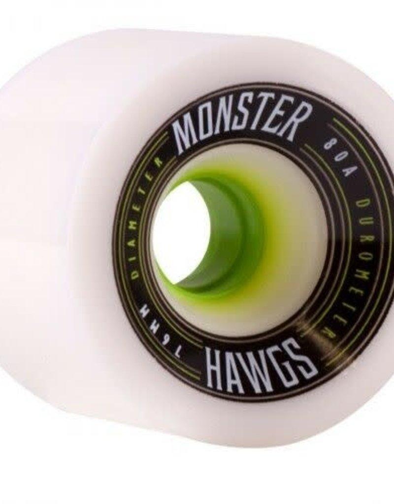 hawgs Monster Hawgs Wheels 76mm 80a White 4pk