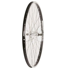 "Wheel Shop Wheel Shop, Rear 26"" Wheel, 36H Black Alloy Double Wall Alex DM-18/ Silver Formula FM-31 QR FW Hub, Stainless Spokes"