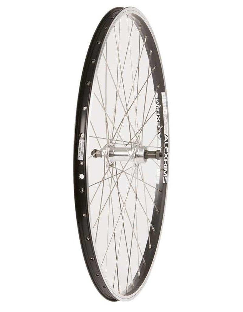 "Wheel Shop Wheel Shop, Rear 26"" Wheel, 36H Black Alloy Double Wall Alex DM-18/ Silver Formula FM-31 QR FW Hub, Stainless Spokes"