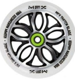 Madd Gear MGP MFX Switchblade 120mm Wheel White/NeoChrome