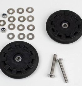BROMPTON Eazy Wheel rollers with fittings - 6mm holes (Pair)