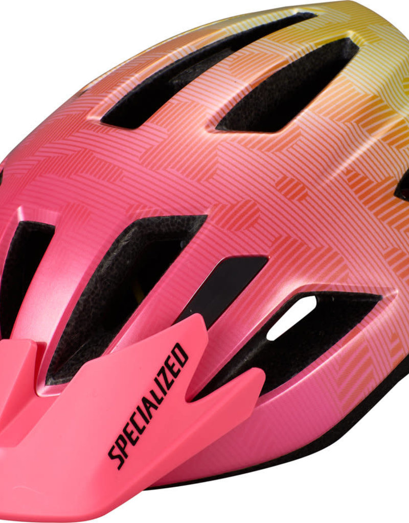 Specialized SHUFFLE YOUTH HELMET - Yellow/Acid Pink Terrain