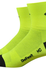 DeFeet DeFeet Airaetor Share the Road Socks - 2 inch, Hi-Vis Yellow/Black, Small