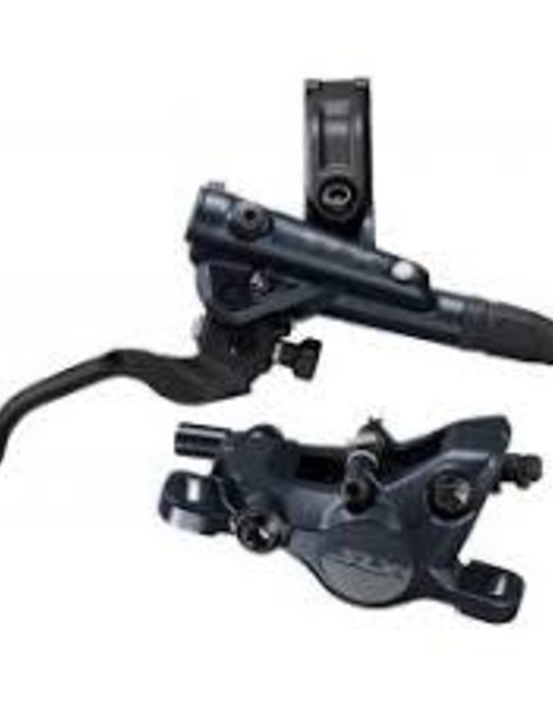 Shimano DISC BRAKE ASSEMBLED SET, BL-MT401(L), BR-MT420(F), BLACK(BLACK LEVER), METAL PAD(W/O FIN),1000MM(SMBH90SS BLACK)