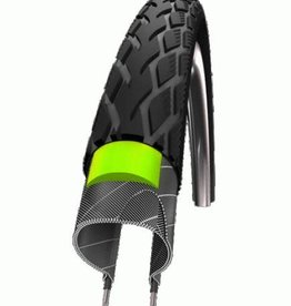 SCHWALBE SCHWALBE MARATHON  16 x 1.75 (47-305) Black, Green Guard, Endurance, Wire