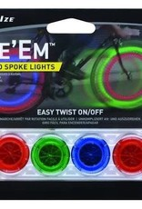 Light Nite Ize See'Em Spoke Lights Assorted 4/Pack