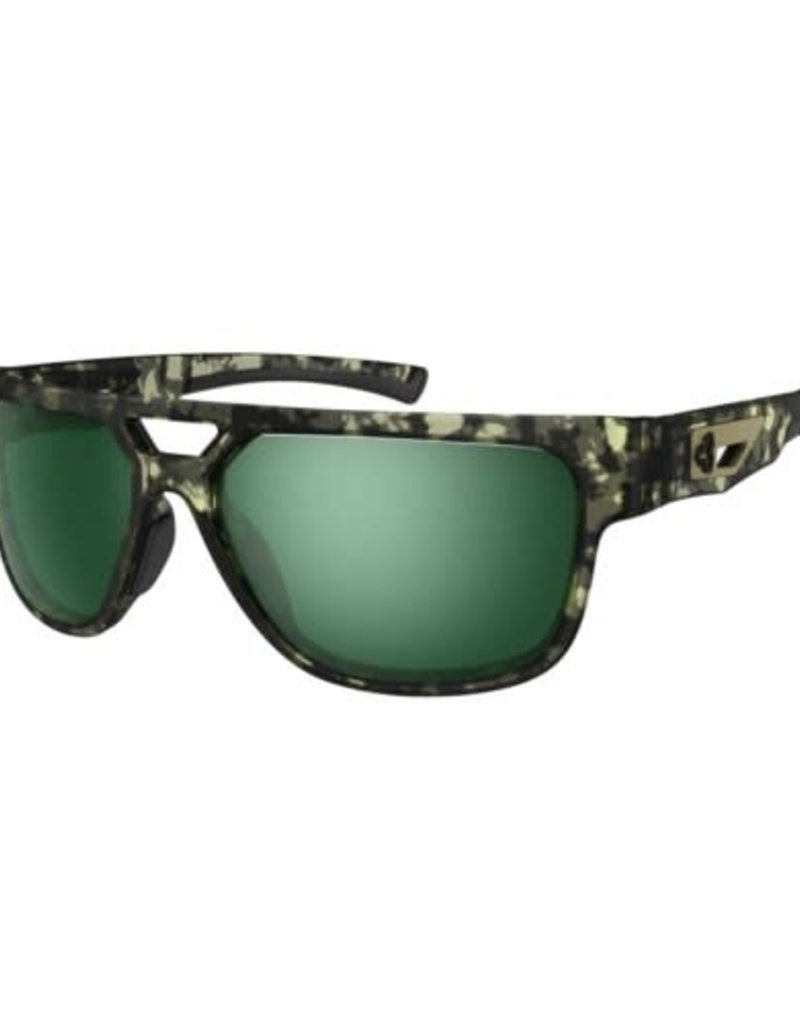 Ryders CAKEWALK POLY CAMO / GREEN LENS SILVER FM