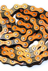 "KMC 510H 1/8"" Chain - Orange/Black"
