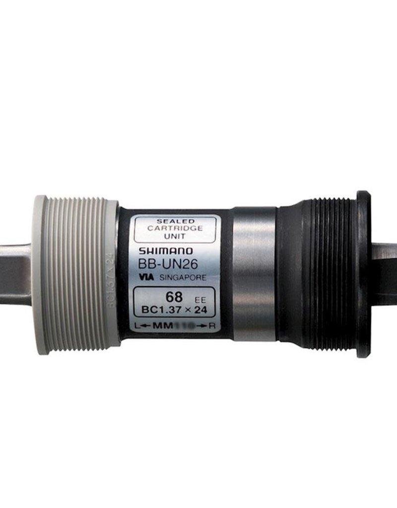 Shimano CARTRIDGE BOTTOM BRACKET, BB-UN26 AXLE: 122.5MM(LL123), S