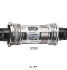 Shimano SHIMANO BOTTOM BRACKET CARTRIDGE, 105 BB-5500 BSA 68-118.5MM HOLLOW AXLE W/O FIXING BOLT