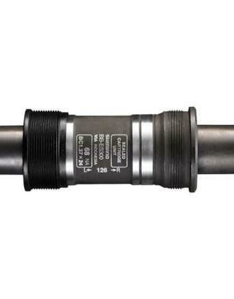 BOTTOM BRACKET CARTRIDGE, BB-ES25 SPLINED/HOLLOW-TYPE AXLE BSA 73MM-126 W/O FIXING BOLT, IND.PACK