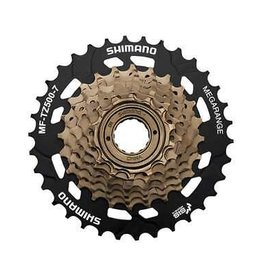 SHIMANO 7SPD FREEWHEEL 14-34T  MF-TZ31 TOURNEY, 7-SPEED 14-16-18-20-22-24-34T BROWN & 34T BLACK, IND.PACK