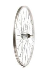 Roues Rear 26'' Wheel Alex C1000 Silver / CB-E110 Silver, 36 Steel spokes, Nutted axle, Coaster Brake