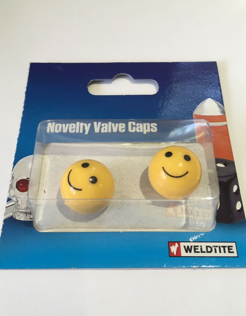 Weldtite Weldtite Smiley Face Valve Caps /pair
