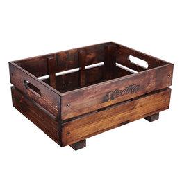 ELECTRA Electra Wooden Crate MIK Basket Pine Brown