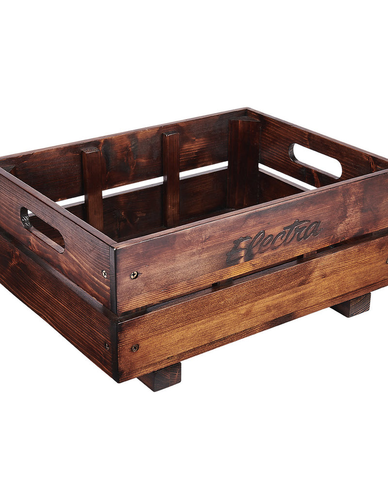 ELECTRA Electra Wooden Crate MIK Basket Pine Brown