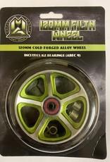 Madd Gear MGP 120MM FILTH WHEEL BLACK W/ GREEN CORE