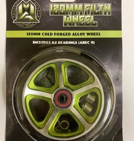 Madd Gear MGP 120MM FILTH WHEEL BLACK W/ GREEN CORE