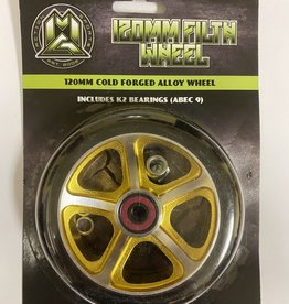 Madd Gear MGP 120MM FILTH WHEEL BLACK W/ GOLD CORE