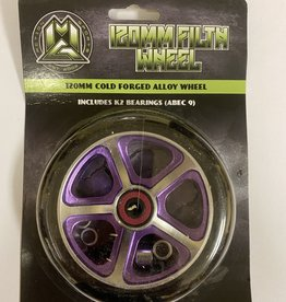 Madd Gear MGP 120MM FILTH WHEEL BLACK W/ PURPLE CORE