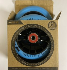 Madd Gear MADD GEAR 100MM FORCE CORE WHEELS BLUE/BLACK PAIR