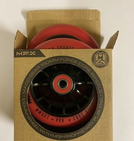 Madd Gear MADD GEAR 100MM FORCE CORE WHEELS RED/BLACK PAIR