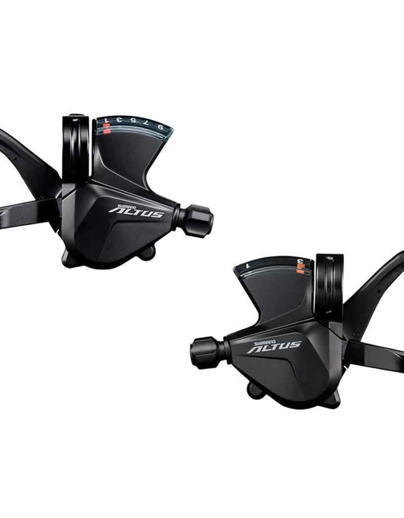 Shimano Shimano Altus SL-M2010 3x9-Speed Shift Lever Set, Black