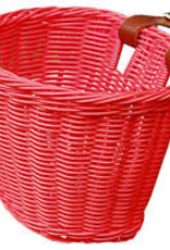 ELECTRA Electra Rattan Small Hot Pink Front Basket