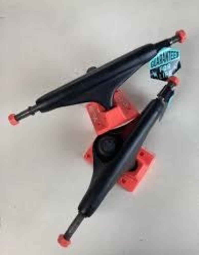 """Industrial Industrial Trucks Black/NeonRed 5"""" (pair)"""