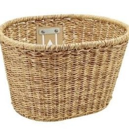 ELECTRA ELECTRA PLASTIC WOVEN BASKET LIGHT BROWN