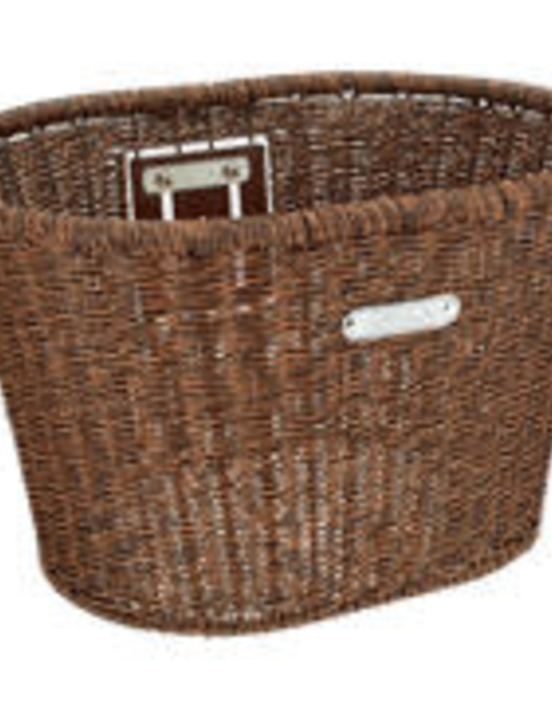 ELECTRA ELECTRA Basket  Plastic Woven Dark Brown