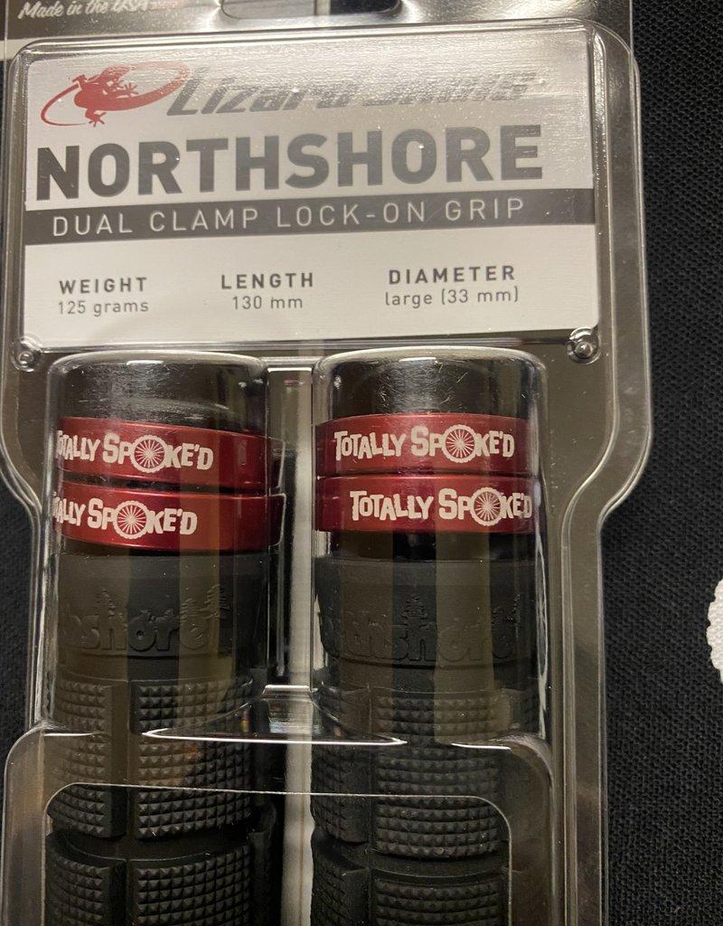 LIZARD SKINS Lizard Skins North Shore dual clamp grips - TS red