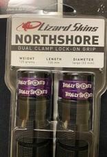 LIZARD SKINS Lizard Skins North Shore dual clamp grips - TS purple