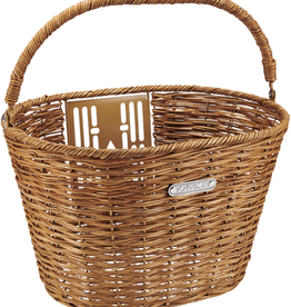 ELECTRA Basket Electra QR Rattan Natural w/Handle Front