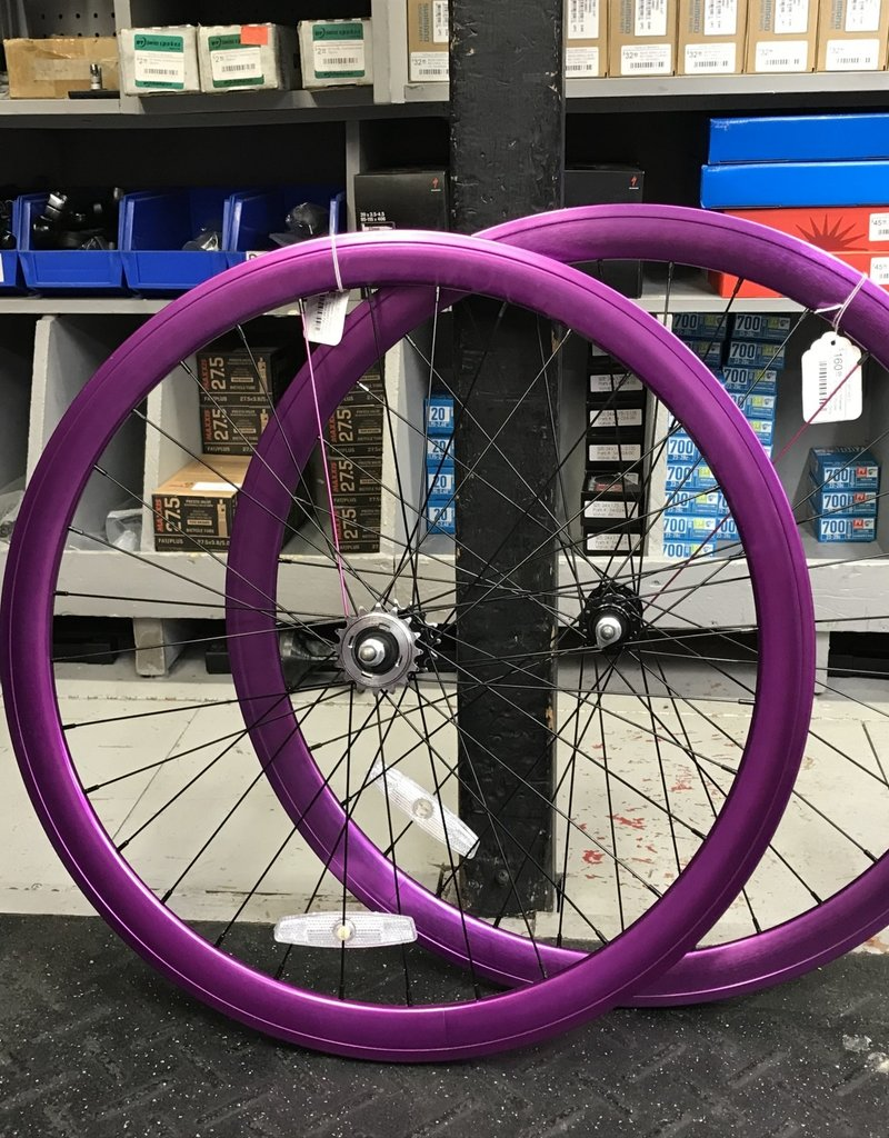 Pure Fix Purefix Wheelset Anodized Purple (Sold as Pair Only)