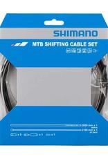Shimano Shimano, MTB 1x Shift Cable Set, Stainless Steel, 2000mm, Black, Shimano/SRAM, Set