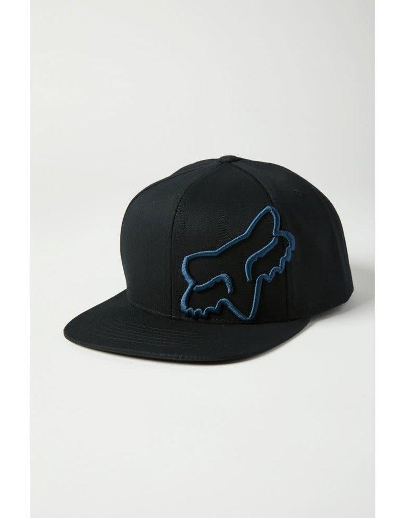 fox head FOX - HEADERS SNAPBACK HAT [BLK/BLU] OS